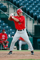 Mike Trout ---  AZL Angels - 2009 Arizona League.Photo by:  Bill Mitchell/Four Seam Images.Anaheim Angels 1st round pick Mike Trout made his professional debut in an Arizona League game against the Rangers at Tempe Diablo Stadium on Sunday, July 5, 2009. Trout hit a triple in his first at bat and finished the game 2 for 2 with 4 walks. The Angels defeated the Rangers, 18-3.