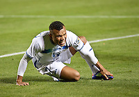 CARSON, CA – June 6, 2011: Honduran Emil Martinez (7) during the match between Guatemala and Honduras at the Home Depot Center in Carson, California. Final score Guatemala 0, Honduras 0.