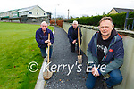 Michael Cronin Chairman right with Sean Devane and Paddy O'Keeffe working on the new walking path being laid around Spa GAA grounds