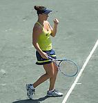Danka Kovinic (MNE) defeats Belinda Bencic (SUI) 4-6, 6-3, 6-2 at the Family Circle Cup in Charleston, South Carolina on April 8, 2015.