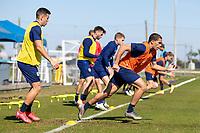 BRADENTON, FL - JANUARY 22: Hassani Dotson Field Activation during a training session at IMG Academy on January 22, 2021 in Bradenton, Florida.