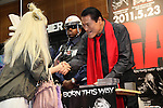 """Antonio Inoki, May 23rd, 2011: Antonio Inoki attends release event for Lady Gaga's new album """"Born This Way"""" which took place at Tsutaya in Shibuya, Tokyo, Japan.  Inoki has been appointed as a """"security guard"""" as the album has been protected under tight security until its release."""