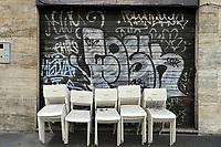 - Milano, Novembre 2020,  locali chiusi in zona Navigli a causa del lockdown<br /> <br /> - Milan, November 2020, clubs closed in Navigli area due to lockdown