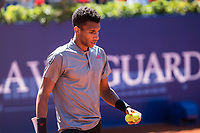 23rd April 2021; Real Club de Tennis, Barcelona, Catalonia, Spain; ATP Tour, Mens Singles, Barcelona Open Tennis;  Banc Sabadell Trofeo Conde de Godó; Felix Auger-Aliassime loses to Tsitsipas in 2 sets