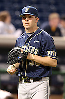 Jeff Kelly #33 of the Pittsburgh Panthers during the Big East-Big Ten Challenge vs. the Iowa Hawkeyes at Bright House Field in Clearwater, Florida;  February 19, 2011.  Photo By Mike Janes/Four Seam Images