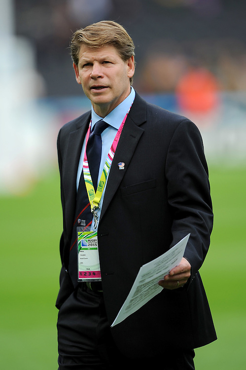 07 October 2015: Mike Tolkin, USA Head Coach, during Match 31 of the Rugby World Cup 2015 between South Africa and USA - Queen Elizabeth Olympic Park, London, England (Photo by Rob Munro/CSM)