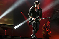 Avenged Sevenfold performs at the 44th Festival d'ete de Quebec on the Plains of Abraham in Quebec city Thursday July 14, 2011. The Festival d'ete de Quebec is Canada's largest music festival with more than 1000 artists and close to 400 shows over 11 days.