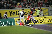 Chad Lucas (Wide Receiver Amsterdam Admirals) gegen Joselio Hanson (Cornerback Frankfurt Galaxy)