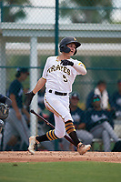 GCL Pirates Sammy Siani (5) bats during a Gulf Coast League game against the GCL Braves on July 30, 2019 at Pirate City in Bradenton, Florida.  GCL Braves defeated the GCL Pirates 10-4.  (Mike Janes/Four Seam Images)