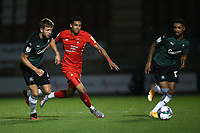 Louis Dennis of Leyton Orient and Will Aimson of Plymouth Argyle during Leyton Orient vs Plymouth Argyle, Caraboa Cup Football at The Breyer Group Stadium on 15th September 2020