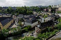 Blick von Corniche auf Grund, Stadt Luxemburg, Luxemburg