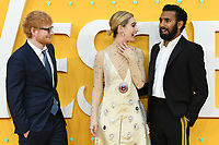 """Ed Sheeran, Lily James and Himesh Patel<br /> arriving for the """"Yesterday"""" UK premiere at the Odeon Luxe, Leicester Square, London<br /> <br /> ©Ash Knotek  D3510  18/06/2019"""