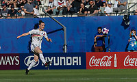 GRENOBLE, FRANCE - JUNE 22: Marina Hegering #5 of the German National Team passes the ball during a game between Panama and Guyana at Stade des Alpes on June 22, 2019 in Grenoble, France.
