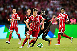 Bayern Munich Defender Marco Friedl (L) in action during the 2017 International Champions Cup China  match between FC Bayern and AC Milan at Universiade Sports Centre Stadium on July 22, 2017 in Shenzhen, China. Photo by Marcio Rodrigo Machado / Power Sport Images