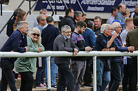 Spectators during the Greene King IPA Championship match between London Scottish Football Club and Ealing Trailfinders at Richmond Athletic Ground, Richmond, United Kingdom on 8 September 2018. Photo by David Horn.