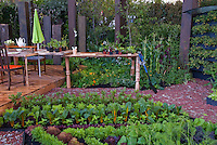 Vegetable Garden and Backyard Deck