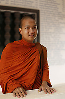 Monks and novices in Siem Reap<br /> , Cambodia