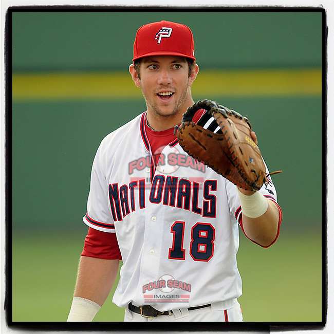 #OTD On This Day, June 16, 2011, Steven Souza (18) of the Potomac Nationals played first base in a game against the Salem Red Sox on June 16, 2011, at Pfitzner Stadium in Woodbridge, Virginia. Souza has played with Washington, Tampa Bay and Arizona over five seasons. He is currently signed with the Cubs. (Tom Priddy/Four Seam Images) #MiLB #OnThisDay #MissingBaseball #nobaseball #stayathome #minorleagues #minorleaguebaseball #Baseball #AloneTogether
