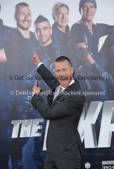 Glen Powell attends The Lionsgate L.A. Premiere of The Expendables 3 held at The TCL Chinese Theatre in Hollywood, California on August 11,2014                                                                               © 2014 Hollywood Press Agency