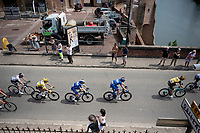yellow jersey / GC leader Julian Alaphilippe (FRA/Deceuninck - Quick-Step) in the peloton<br /> <br /> Stage 11: Albi to Toulouse(167km)<br /> 106th Tour de France 2019 (2.UWT)<br /> <br /> ©kramon