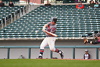 Garrison Harless (16) of Northside High School in Columbus, Georgia during the Under Armour All-American Pre-Season Tournament presented by Baseball Factory on January 14, 2017 at Sloan Park in Mesa, Arizona.  (Freek Bouw/MJP/Four Seam Images)