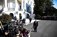 United States President Donald J. Trump makes a statement to the gathered press as he departs the White House in Washington, D.C., U.S., on Tuesday, Jan. 12, 2021. The President is heading to Alamo, Texas today to visit the border wall between the United States and Mexico. This is the Presidents first appearance following the insurrection at the U.S. Capitol by his followers last week. <br /> CAP/MPI/RS<br /> ©RS/MPI/Capital Pictures