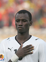 Ghana's Mohammed Rabiu (13) stands on the field before the game against Hungary at the FIFA Under 20 World Cup Semi-final match at the Cairo International Stadium in Cairo, Egypt, on October 13, 2009. Costa Rica won the match 1-2 in overtime play. Ghana won the match 3-2.