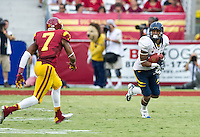 LOS ANGELES, CA - September 22, 2012:  Cal Bears wide receiver Keenan Allen (21) during the USC Trojans vs the Cal Bears at the Los Angeles Memorial Coliseum in Los Angeles, CA. Final score USC 27, Cal 9..