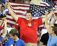 USA fan during a CONCACAF Gold Cup match against Honduras at RFK Stadium on July 8 2009 in Washington D.C. USA won the match 2-0.
