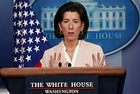 United States Secretary of Commerce Gina Raimondo answers questions during a White House press briefing in the James S. Brady Press Briefing Room at the White House in Washington, D.C. on Wednesday, April 7, 2021. <br /> Credit: Leigh Vogel / Pool via CNP /MediaPunch