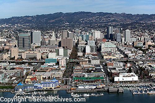 aerial photograph Jack London Square Oakland, California