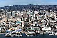 aerial photograph Jack London Square Oakland, California