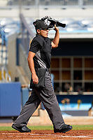Umpire Nobuoki Yasuta during a game between the FCL Pirates Black and FCL Rays on August 3, 2021 at Charlotte Sports Park in Port Charlotte, Florida.  (Mike Janes/Four Seam Images)