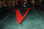 Roses in the shape of a V at a Valentino party at the home of John and Becca Thrash Friday April 23,2009.(Dave Rossman/For the Chronicle)