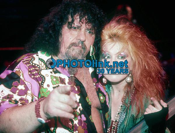 1984 FILE PHOTO<br /> New York, NY<br /> Captain Lou Albano Cyndi Lauper<br /> Photo by Adam Scull-PHOTOlink.net