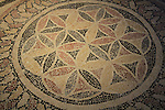Israel, Jerusalem, mosaic floor from Herod's palace in Herodion, 1st century BC, at the Israel Museum