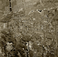 historical aerial photograph Santee, San Diego county, California, 1966