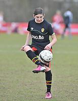 Denmark U17 - Belgium U17 : Noemie Gelders.foto DAVID CATRY / Vrouwenteam.be