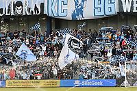 KANSAS CITY, KS - MAY 29: Sporting KC fans during a game between Houston Dynamo and Sporting Kansas City at Children's Mercy Park on May 29, 2021 in Kansas City, Kansas.