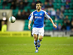 Hibs v St Johnstone.....11.02.13      SPL.Mehdi Abeid .Picture by Graeme Hart..Copyright Perthshire Picture Agency.Tel: 01738 623350  Mobile: 07990 594431