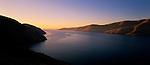 Sunrise at the entrance of Lyttleton Harbour Canterbury  New Zealand.