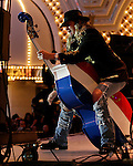 Downtown Hoedown kicks of NFR at Fremont Street Experience with Trick Pony Deana Carter Ricochet, and Little Texas concerts&#xA;photo  Ira of Trick Pony riding his Bass<br />