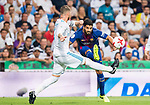 Luis Suarez (r) of FC Barcelona fights for the ball with Sergio Ramos of Real Madrid during their Supercopa de Espana Final 2nd Leg match between Real Madrid and FC Barcelona at the Estadio Santiago Bernabeu on 16 August 2017 in Madrid, Spain. Photo by Diego Gonzalez Souto / Power Sport Images