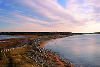 Curve in road leading down to East Lawrencetown beach