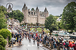 The peloton during Stage 3 of the 2021 Tour de France, running 182.9km from Lorient to Pontivy, France. 28th June 2021.  <br /> Picture: A.S.O./Charly Lopez | Cyclefile<br /> <br /> All photos usage must carry mandatory copyright credit (© Cyclefile | A.S.O./Charly Lopez)
