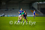 Annascaul's Fintan Herlihy and Seamus O'Laighin of Castlegregory tussle for possession in the 2020 Junior football championship final