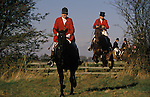 Jumping fences. Belvoir Hunt Leicestershire England.  Fox hunting with hounds