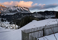 Winter views of the Ladino community of La Valle  (BZ)