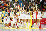 Spain's cheerleaders during 2018 Men's European Championship Qualification 2 match. November 2,2016. (ALTERPHOTOS/Acero)