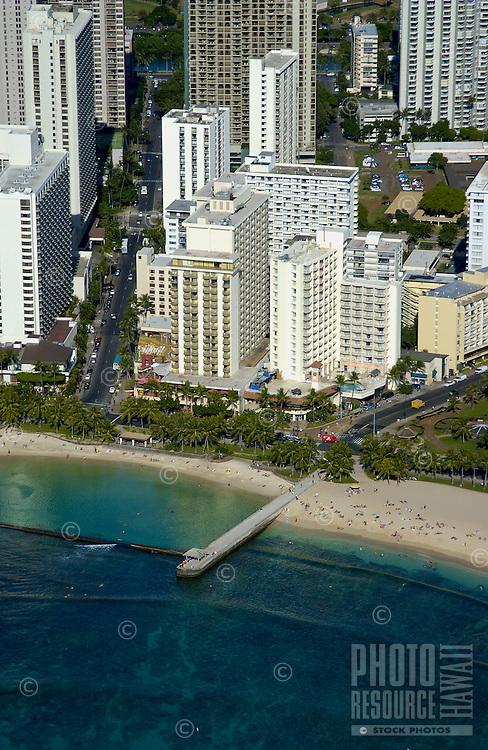 Aerial of Resort Quest Waikiki Beach Hotel